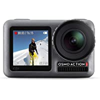 DJI Osmo Action Cam - Cámara digital con 11m Pantalla dual Resistente al agua 4K HDR-Video 12MP 145 ° Cámara angular…
