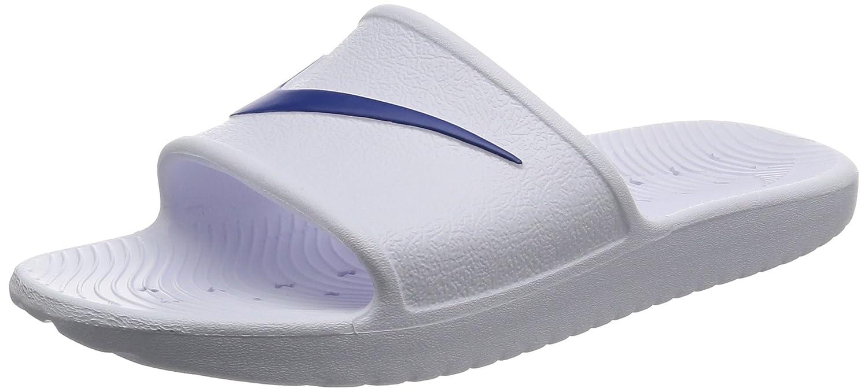Nike Herren Kawa Shower Dusch- Badeschuhe  46 EU|Wei? (White/Blue Moon 100)