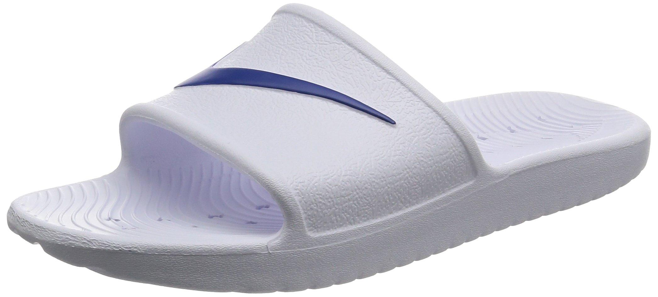 Nike Men's Kawa Shower Slides (10, White/Blue Moon)