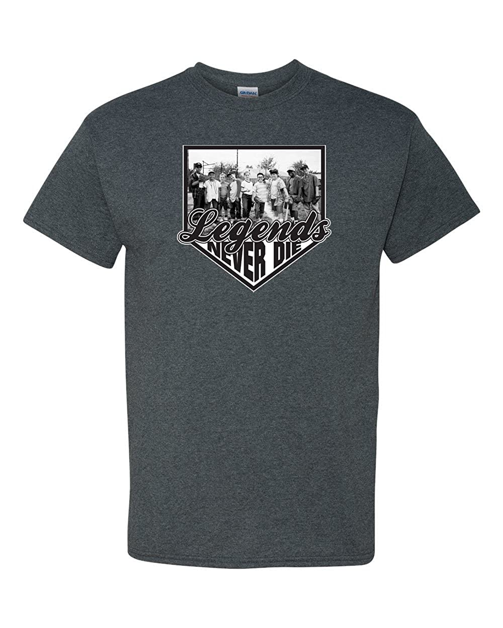 43a56f4aa Amazon.com: Legends Never Die - The Sandlot Kids Men's T-Shirt: Clothing