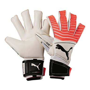 343264d491f8 One Grip 17.1 Goalkeeper Gloves - White/Fiery Coral/Black: Amazon.co ...