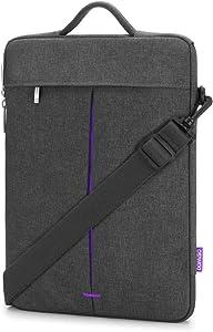 "DOMISO 13.3 Inch Laptop Shoulder Bag Sleeve Case for Apple 13"" MacBook Air / 14"" Lenovo ThinkPad A485 / 14"" HP ProBook 640 G4/645 G4"