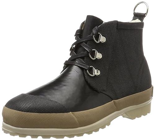 Womens Gummistiefel Kurz Wellington Boots, Black Ilse Jacobsen