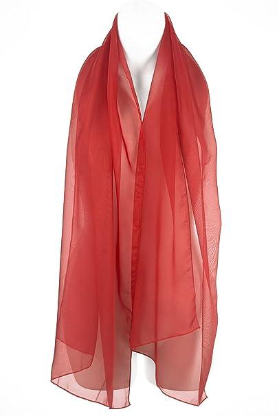 nuovo prodotto de13b 1bca0 Sciarpa Elegante Rossa Chiffon, Scialle, Coprispalle