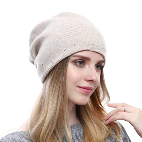 8b9970d3b996a9 Winter Wool Beanie For Women Strechy Hats Trendy Oversized Caps: Amazon.ca:  Clothing & Accessories