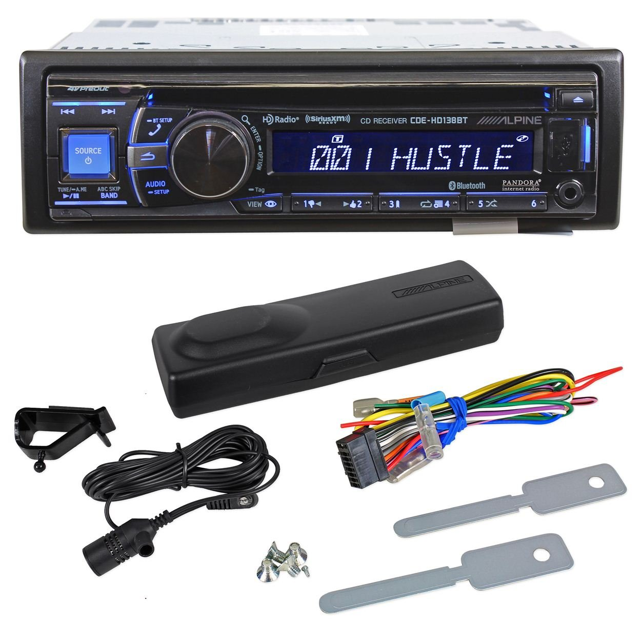 Amazon.com: CDE-HD138BT - Alpine Single-DIN CD/MP3, Built-in HD Tuner  Receiver with Bluetooth and Sirius XM Ready: Car Electronics