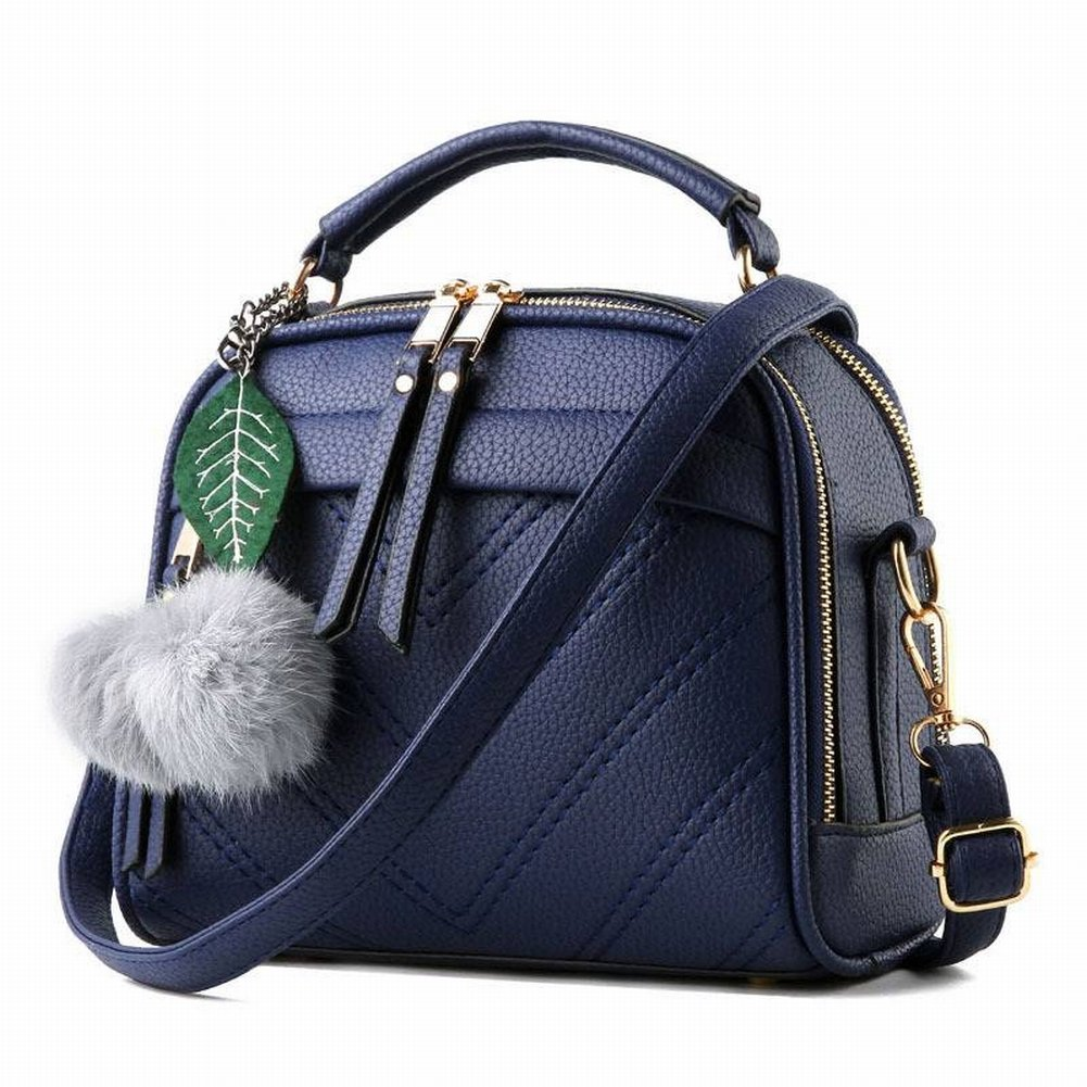 Lederhandtaschen Öl Wachs Leder Mode Allgleiches Handtasche Schulter Messenger Bag , schwarz