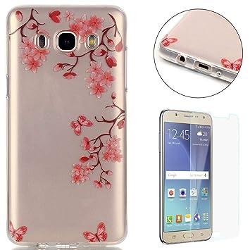 Compatible For Samsung Galaxy J7 2016 Silicone Gel Funda Silicona Carcasa Suave TPU Protectora Cubiertas Cubierta De La Caja De Silicona ...