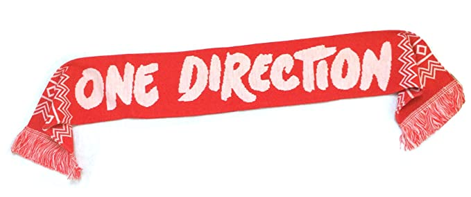 One Direction White Name Logo Red Winter Scarf