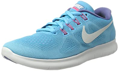 sports shoes 36727 02006 Nike Women s Free RN 2017 Running Shoe (5 M US, Chlorine Blue Off