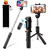 Selfie Stick Tripod for iPhone Tripod Stand kungfuren Aluminum Flexible Tripod for iPhone X Selfie Stick for iPhone 8 Plus with Detachable for Android iOS Smart Phone Cell Phone Tripod