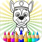 Paw Pups - Coloring Pages Cartoons Kids : Patrol Dogs