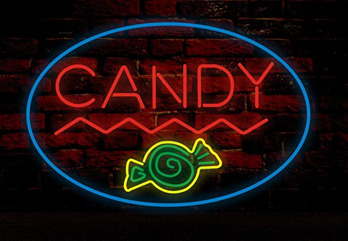 Prang-US Candy Shop Neon Signs 24×20 inch, Real Neon Signs made with