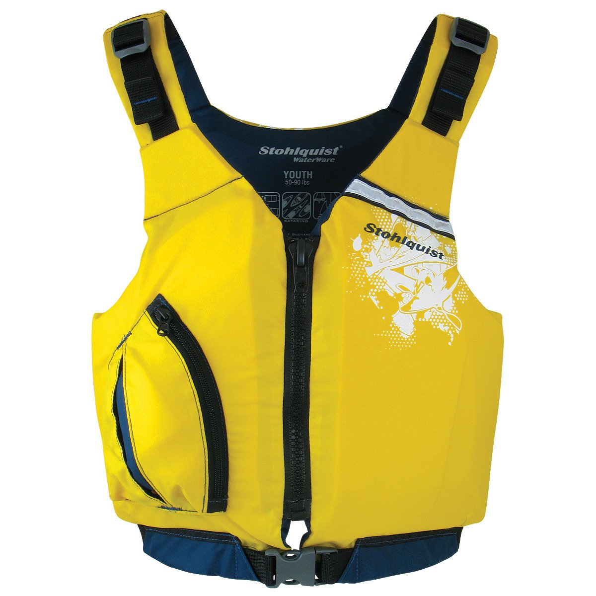 (Yellow) - Stohlquist Youth Escape PFD Life Jackets   B00Q97QYY4