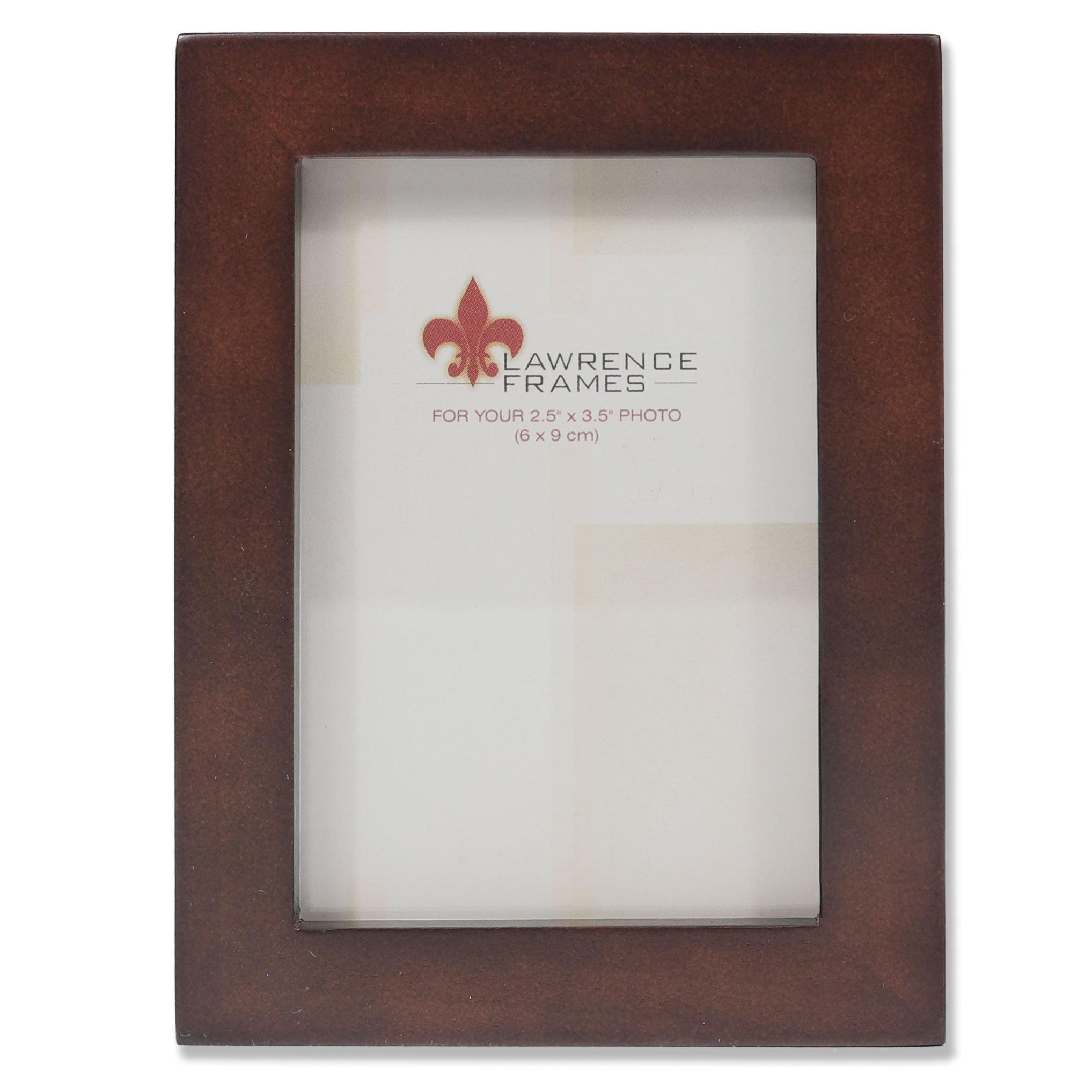 Lawrence Frames 755923 Espresso Wood Picture Frame, 2.5 by 3.5-Inch