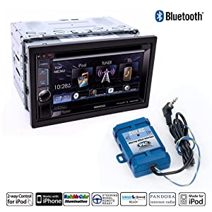 """Kenwood DDX372BT In Dash Double Din 6.2"""" DVD Receiver with PAC SWI-RC Steering Wheel Control Interface Adapter and a FREE SOTS Air Freshener"""