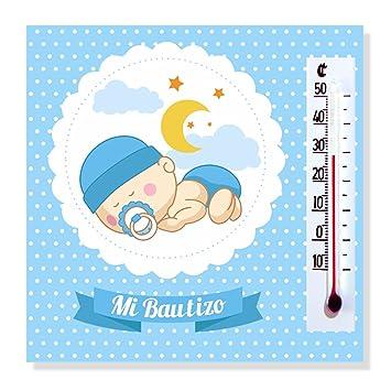 337492b47 Detalles y Regalos de Bautizo Niño para invitados - Imanes con termómetro  como Recuerdo de Bautizo - Bonitos y Originales - Pack 20 unidades - ...