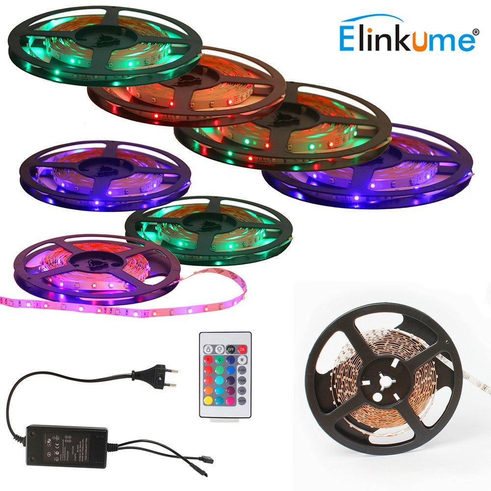 ELINKUME® nicht wasserdicht 5 M 3528 SMD RGB Led Streifen ...