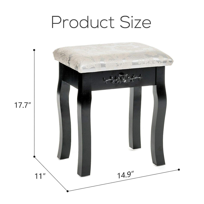 Wondrous Amazon Com Floral Design Dressing Vanity Stool Makeup Pad Inzonedesignstudio Interior Chair Design Inzonedesignstudiocom