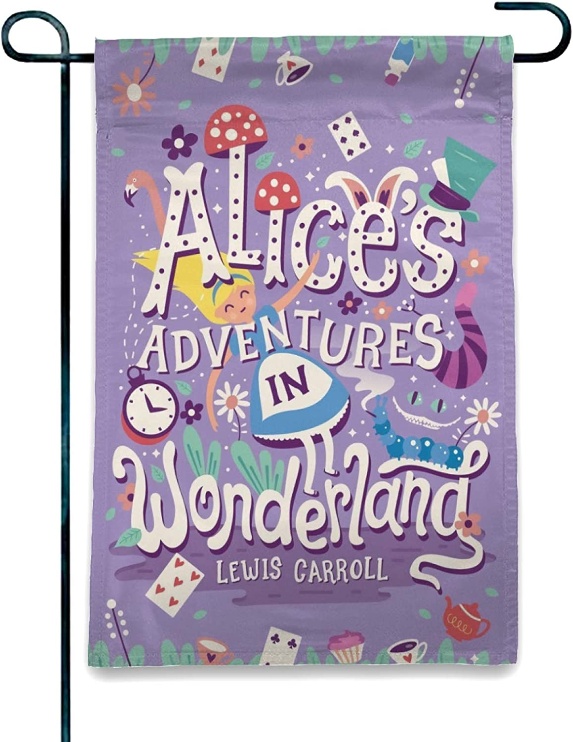OAbear Graphics and More Alice in Wonderland Garden Party Garden Yard Flag (Pole Not Included)
