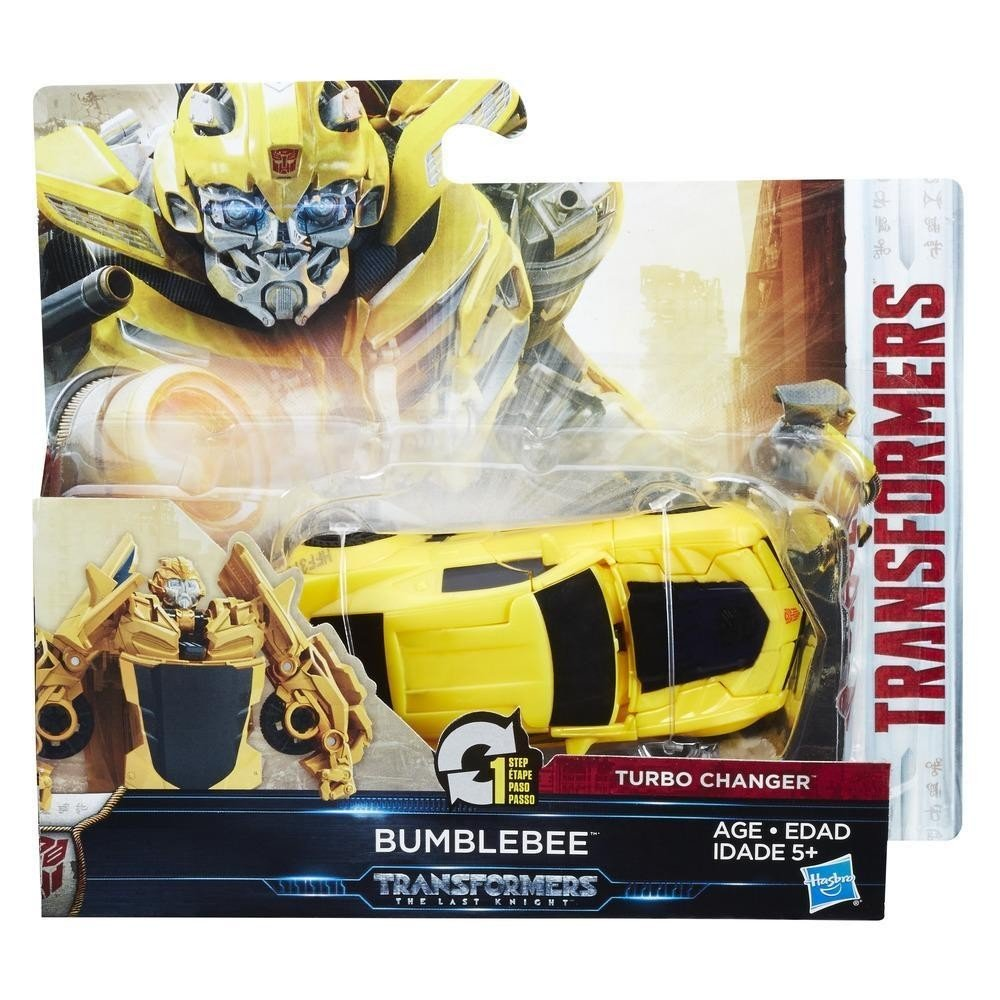 Transformers The Last Knight 1-Step Turbo Changer Bumblebee Figure Hasbro C1311ES0