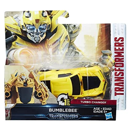Amazon.com: Transformers The Last Knight 1-step Turbo Changer Bumblebee Figure: Toys & Games