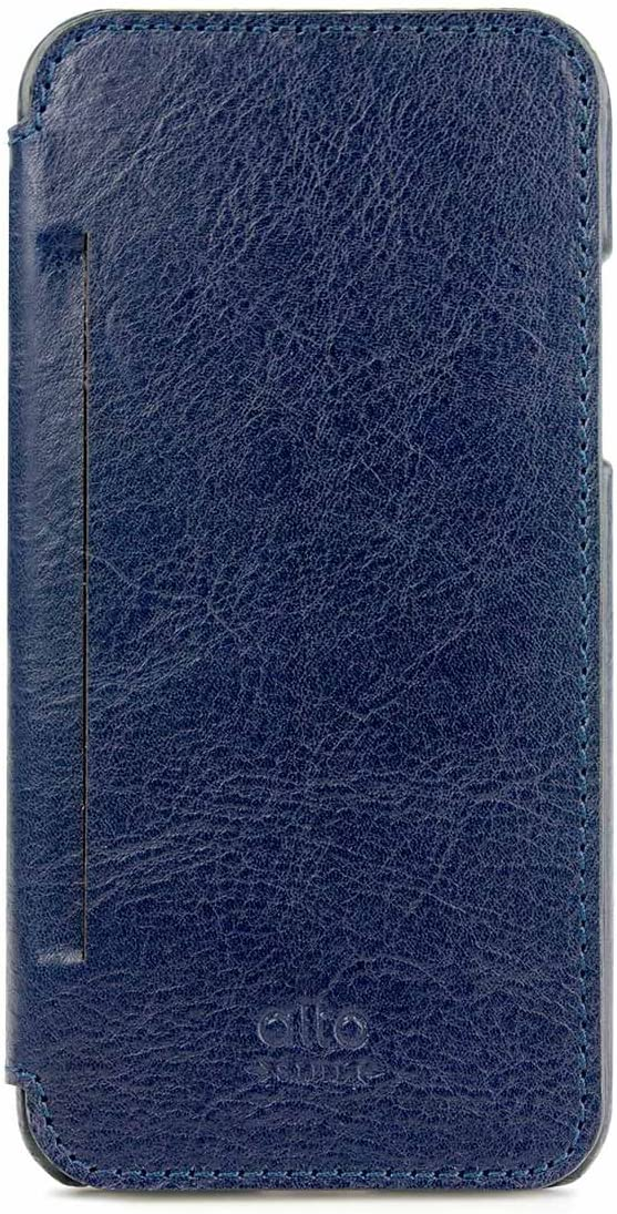 alto Handmade Premium Italian Leather Case for Apple iPhone X/Xs Foglia (Navy) 71KMZla0RjL