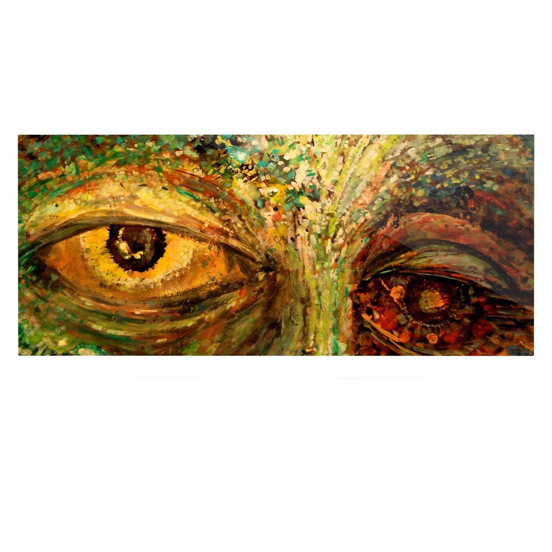 24 x 36 Kess InHouse Nathan Gibbs Art Eye of The Storm Green Yellow Luxe Rectangle Panel