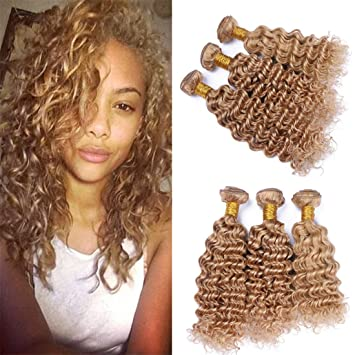 Amazon Com Zara Hair Honey Blonde Brazilian Hair Bundles