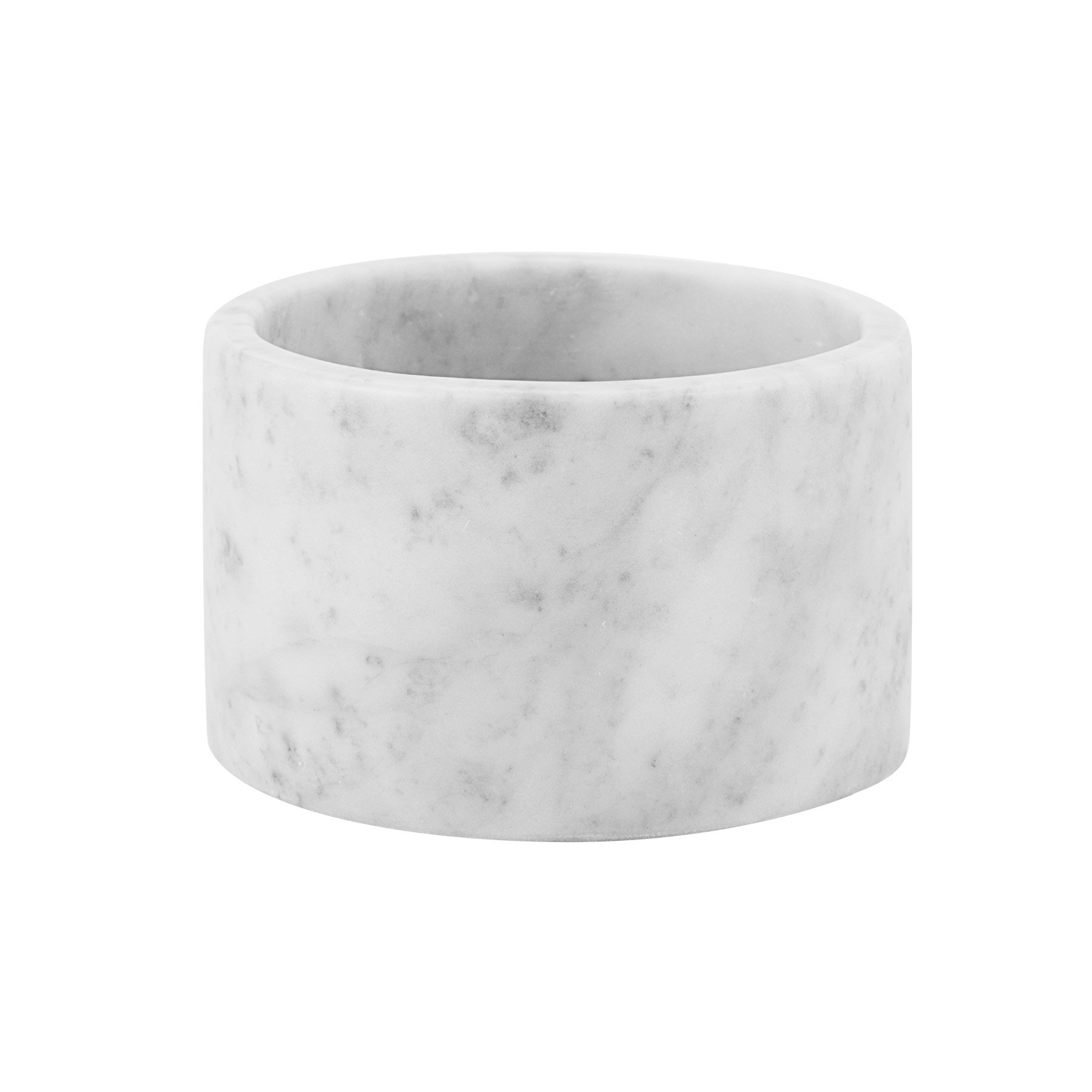 Maykke Isidora Carrara White Marble Canister Modern Bathroom, Bedroom, Office Storage Organizer Elegant Decorative Holder for Makeup Brushes, Accessories White, NHA1270101