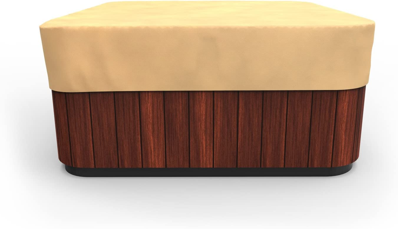 Amazon Com Budge P9a16sf1 All Seasons Square Hot Tub Cover Lightweight Uv Resistant Medium Tan Swimming Pool Covers Garden Outdoor