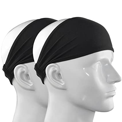 30b7f8ec698d IPOW 2 Pack 4 quot  Versatile Lightweight Nonslip Moisture Wicking Elastic  Sports Headband Sweatband Wrap for