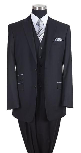 Amazon.com: Milano Moda de los hombres traje de lana Feel 2 ...