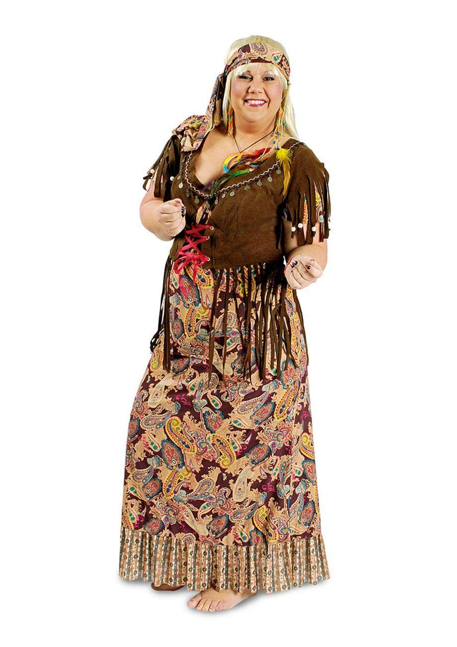 Enter-Deal-Berlin Damen Kostüm Hippie Frau Größe 48/50 (XL)
