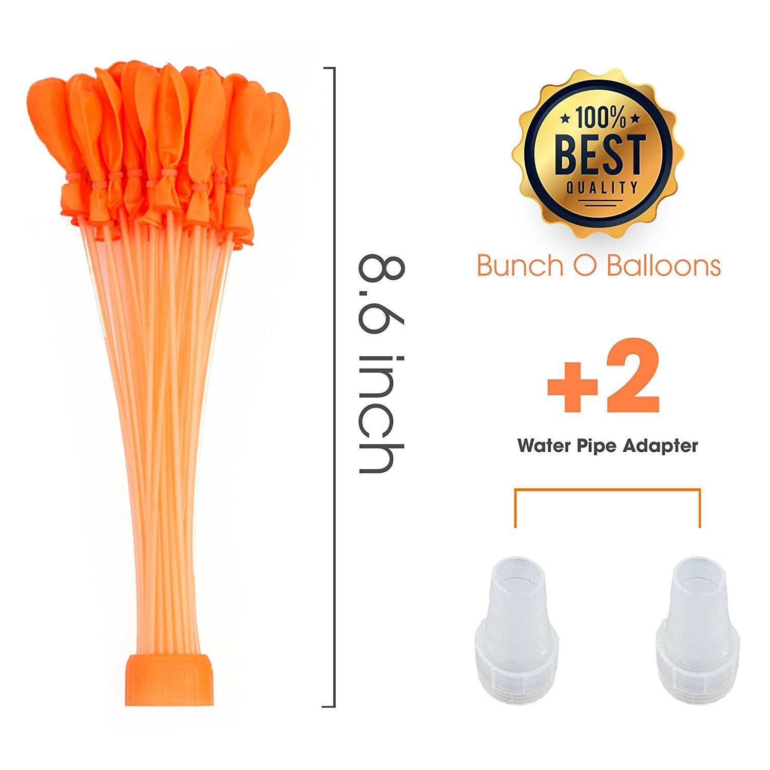 Hot Summer Fun Toy Set Claire L Markle MUSTFIT Water Bunch Balloons New Update 2018-8 Bunch Makes 296 Quick Fill Self Sealing Water Balloons 3 Minutes Black