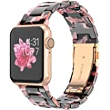 Wearlizer Womens Floral Strap Compatible with Apple Watch Bands 38mm 40mm for iWatch SE Lightweight Wristbands Dressy Replace