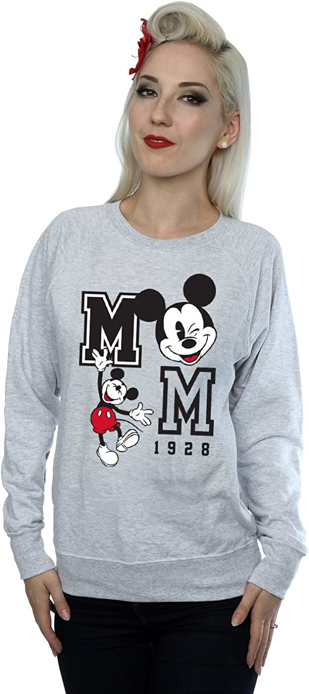 TALLA XL. Disney mujer Mickey Mouse Jump and Wink Camisa De Entrenamiento