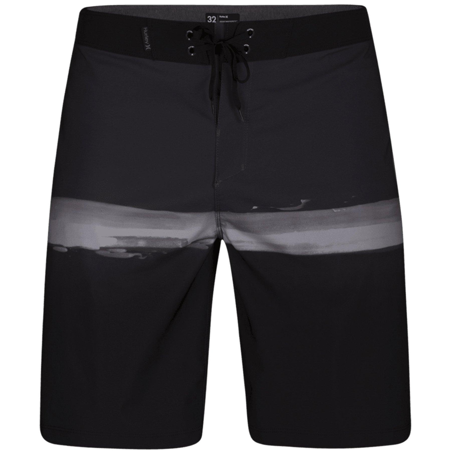 Hurley Men's Phantom Pure Glass 20 inch Wicking Stretch Boardshorts, Black (010), 30