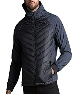 Mens Threadbare Padded Quilted Hooded Jacket Coat Lightweight Top RED KITE PUFFA