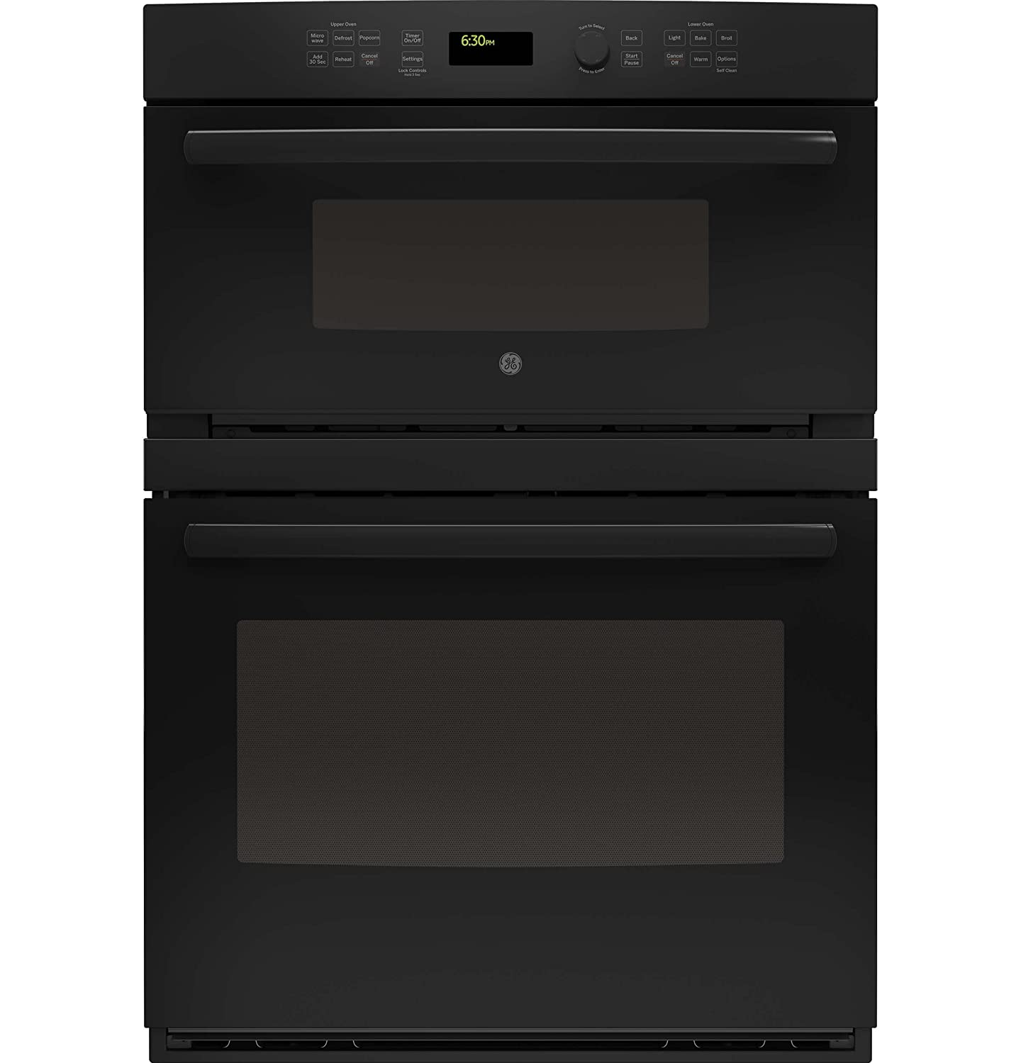 GE JT3800DHBB 30' Black Electric Combination Wall Oven