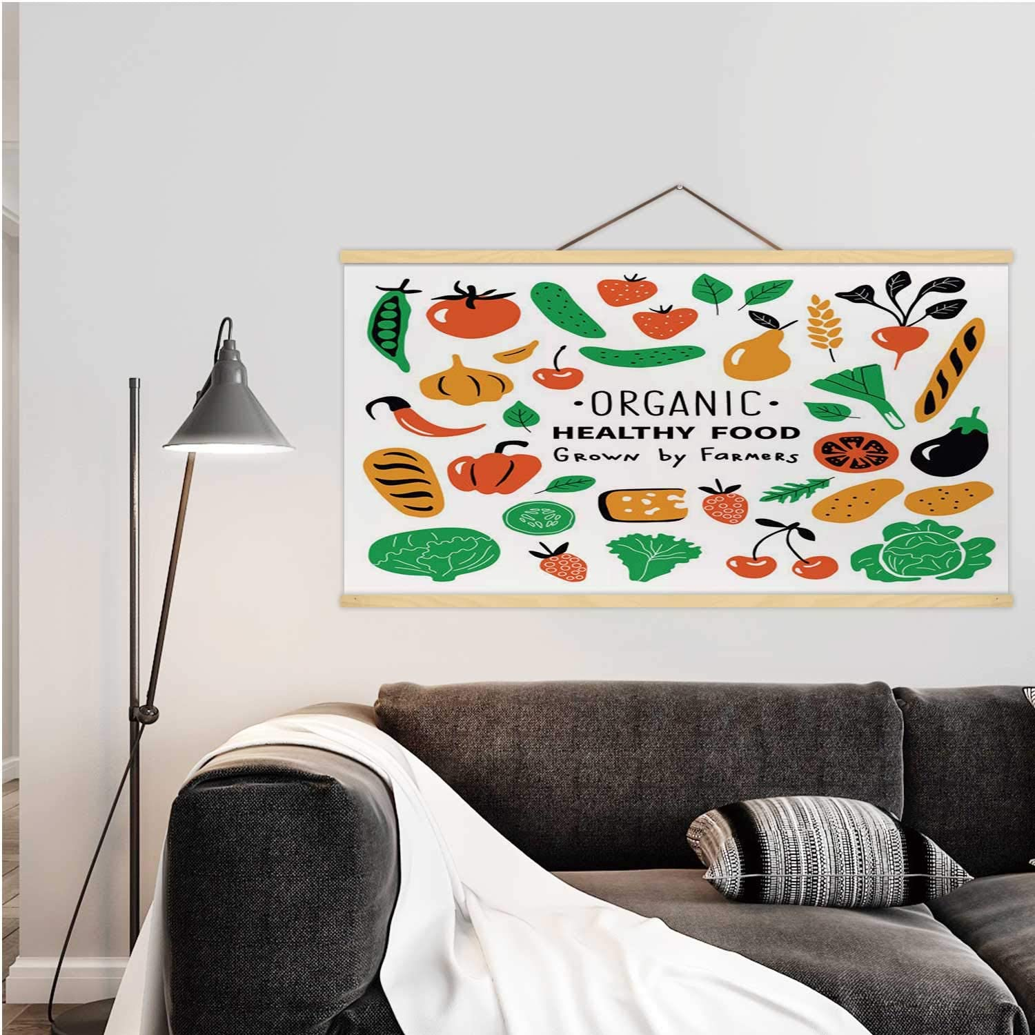 Healthy food,Wall Art Posters organic products set.Funny doodle hand drawnillustration.Farm market cute food collection.Natural fruits and vegetables.Isolated on white. illustration Russia for
