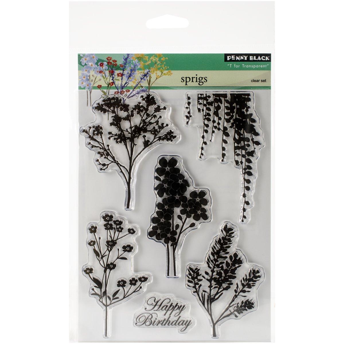 Penny Black 30-284 Sprigs Transparent Stamp Set