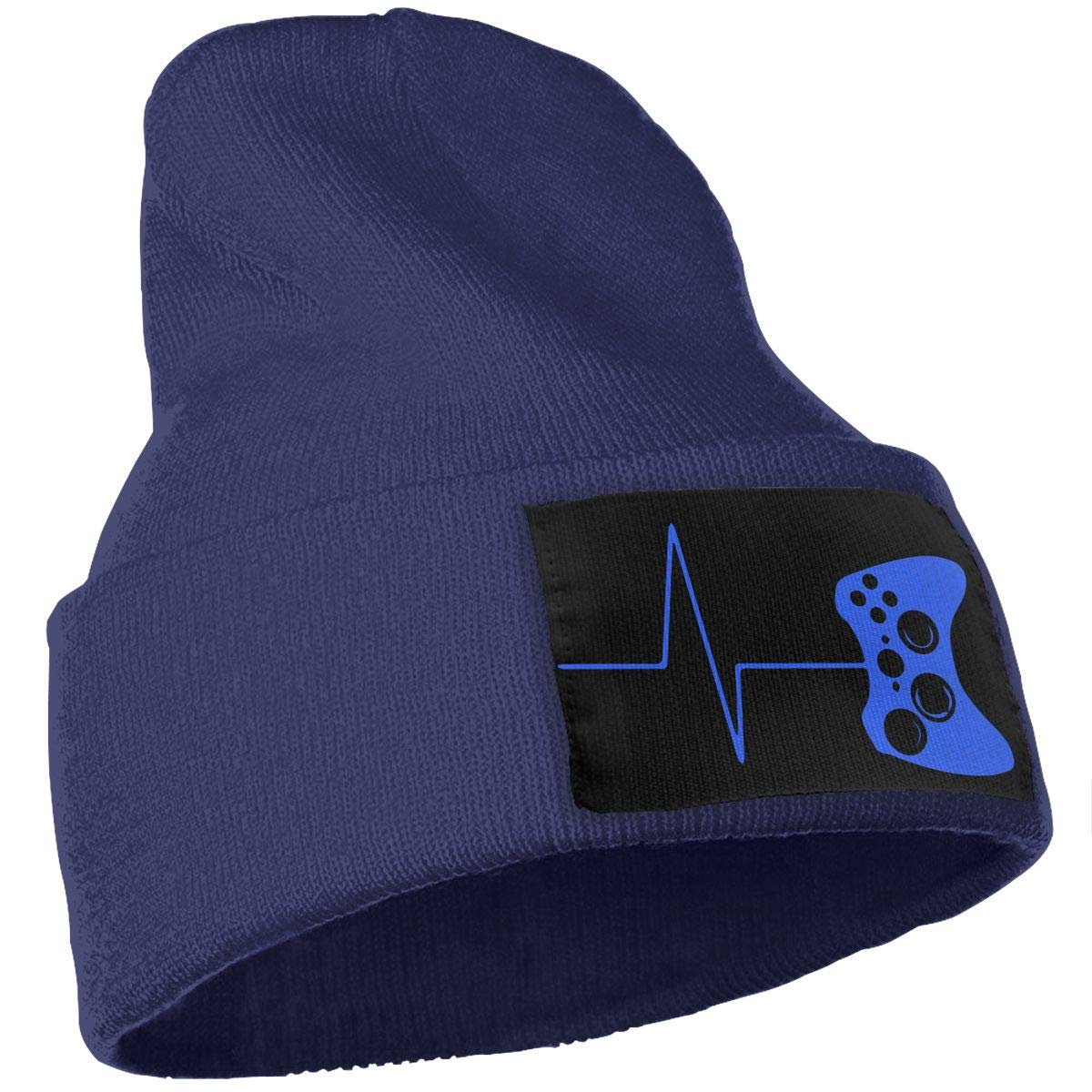 Mens Womens 100/% Acrylic Knit Hat Cap Heartbeat of A Gamer Fashion Skull Cap