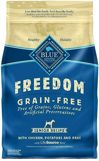 Amazon Blue Buffalo Freedom Grain Free Natural Senior Dry Dog