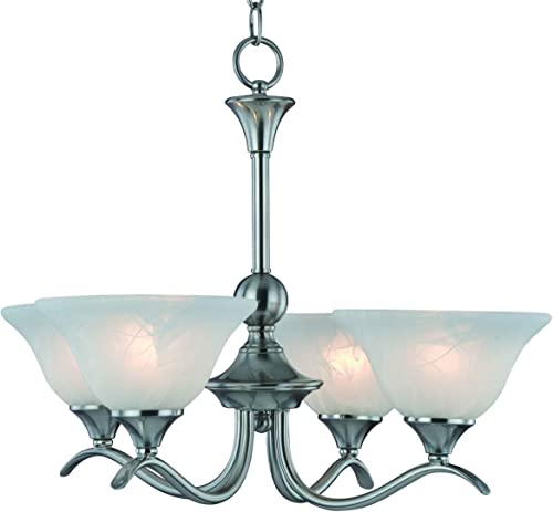 Hardware House H10-4029 Dover Chandelier, 22 x 22 x 17 , Satin Nickel