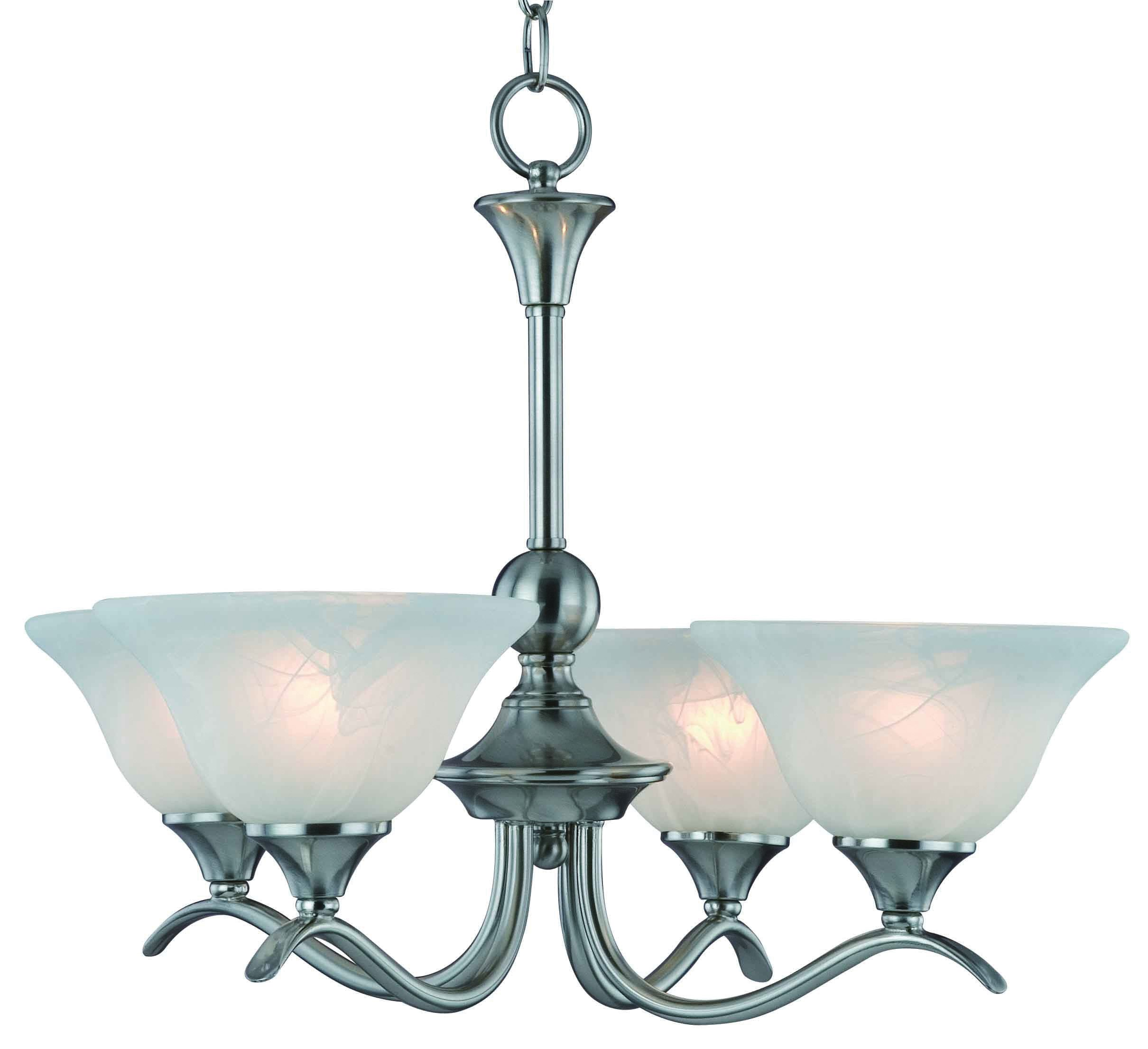 Hardware House H10-4029 Dover Chandelier, 22'' x 22'' x 17'', Satin Nickel by Hardware House