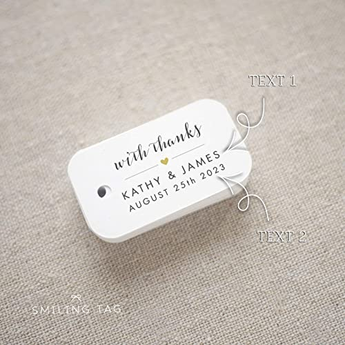 01948de4b916 Amazon.com: With Thanks Wedding Favor Tags - Personalized Gift Tags ...