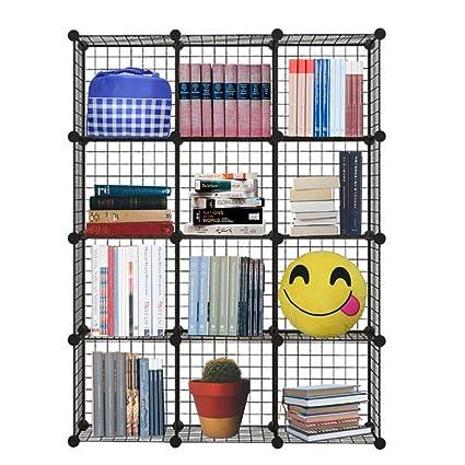 Genenic 12 Cube Closet Organizer, Garage Storage Racks Sets, Shelf Cabinet,  Wire Grids