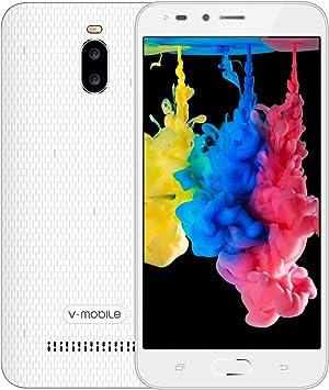 Moviles Libres Baratos,V Mobile A13 Android 8.1 Oreo 5.5 Pouce 24GB 3000mAh Batterie 5MP Cámara Doble SIM 3G Smartphone Baratos Libres (Blanco): Amazon.es: Electrónica