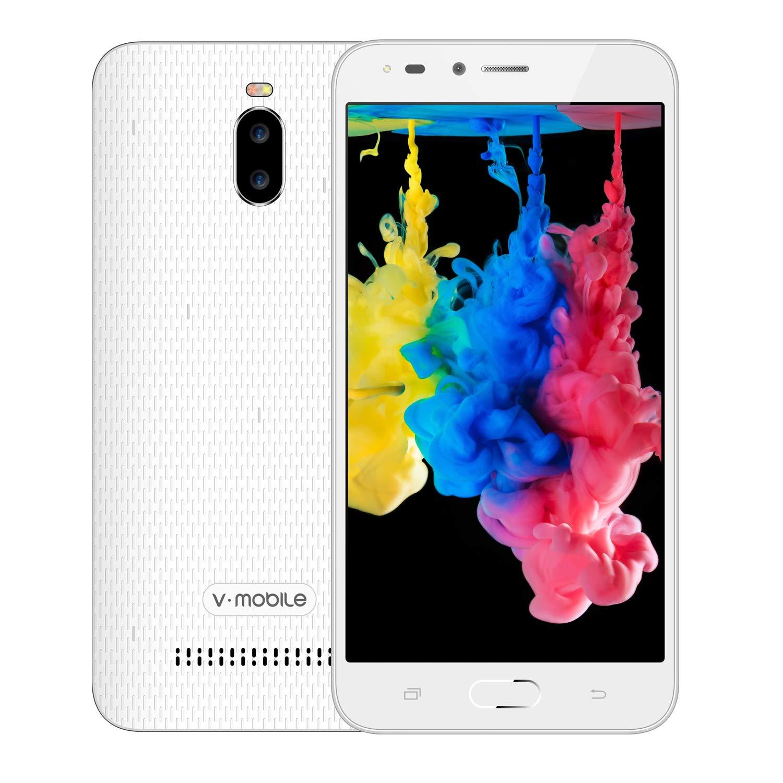 Moviles Libres Baratos,V Mobile A13 Android 8.1 Oreo 5.5 Pouce 24GB 3000mAh Batterie 5MP Cámara Doble SIM 3G Smartphone Baratos Libres (Blanco): Amazon.es: ...